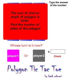 POLYGON TIC TAC TOE GAME