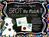 POLYGON Terms VIRGINIA SOL Grades 4-6 SPOT the Match Game TEST PREP