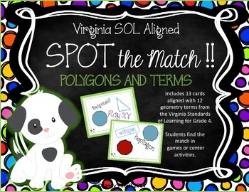 POLYGON Terms VIRGINIA SOL Grades 4-6 SPOT the Match Game TEST PREP