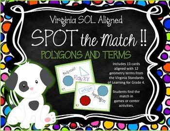 POLYGON Terms VIRGINIA SOL Grades 4-6 SPOT the Match Game