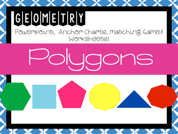 POLYGONS (Powerpoint, Anchor Charts, & Worksheets)