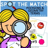 POLYGONS and GEOMETRY TERMS VIRGINIA SOL Grade 3 SPOT the
