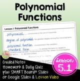 Algebra 2: Polynomial Functions