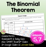 The Binomial Theorem (Algebra 2 - Unit 5)