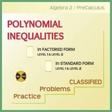 POLYNOMIAL INEQUALITIES - 32 Practiced Problems CLASSIFIED