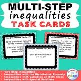 MULTI-STEP INEQUALITIES - Task Cards {40 Cards}