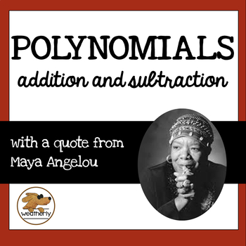 POLYNOMIALS - addition and subtraction / BLACK HISTORY