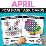 POM POM EASTER Task Cards for APRIL STEM