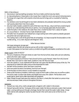 POMPEII & HERCULANEUM- HSC summary