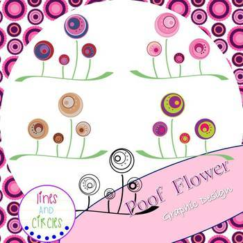 POOF FLOWERS GRAPHIC FOOTER