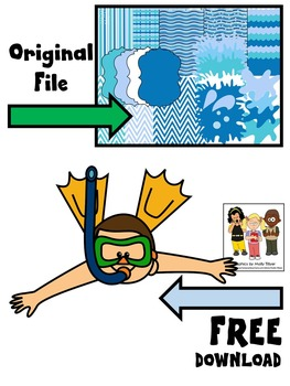 POOL PARTY CLIP ART * BLUE BACKGROUNDS * FREEBIE
