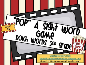 POP! 2nd Grade Dolch Sight Words Game