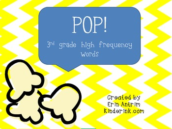 POP! 3rd Grade High Frequency Words