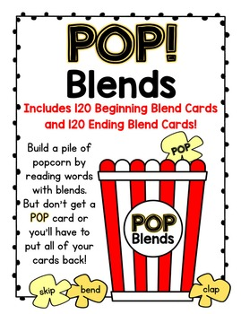 POP!  A Beginning and Ending Blends Card Game