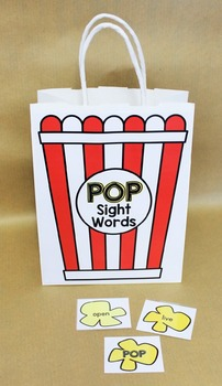 POP!  A Sight Words Popcorn Card Game - Contains all 220 Dolch Sight Words!