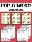 POP A WORD! An Ending Consonant Blends Game
