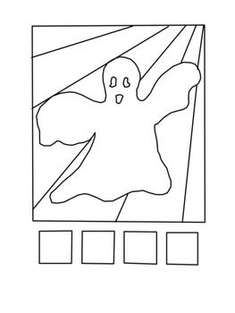 POP ART HALLOWEEN-Cartes à colorier