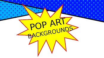 POP ART Inspired Backgrounds