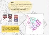 POP ART LESSON RESOURCE - DRAWING PACKAGING