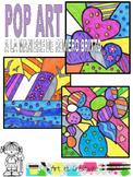 POP ART à la manière de Romero BRITTO , coloriage pour enf