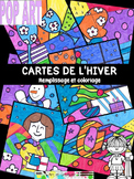 POP ART- cartes à colorier HIVER