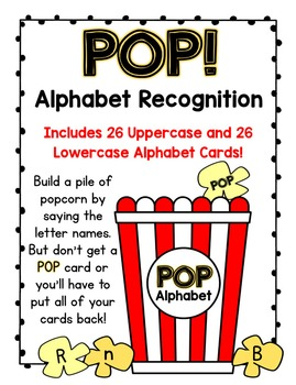 POP!  An Uppercase and Lowercase Letter Recogniton Card Game