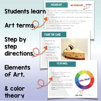 POP Art Cake Sculpture with Rubric and Rainbow Ribbon Collaboration Art Project