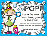 POP! Bubble Themed Literacy Activities