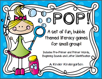 POP! Bubble Themed Literacy Activities