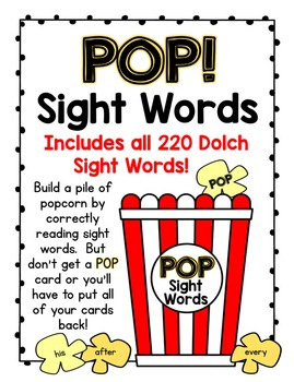 POP!  Bundle:  Sight Words, CVC, CVCe, Blends, and Digraphs!