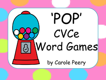 'POP' CVCe Word Games