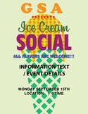 POP GSA/CLUB ICE CREAM SOCIAL POSTER 11 X 17