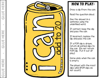 POP! Game {I Can:  Math Operations}