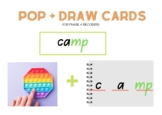 POP IT and draw phase 4 letters and sounds revision phonics (blends).