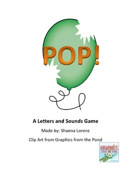 POP Letters and Sounds Game