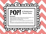 POP! Multiplication Review Game