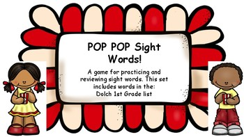 POP POP Sight Words- Dolch 1st Grade List