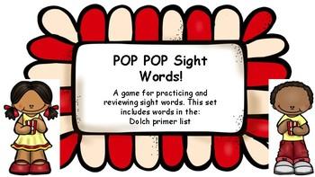 POP POP Sight Words Primer List