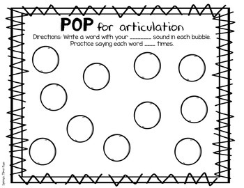 POP Personal Outside Practice for speech and language