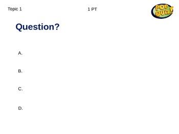 POP Quiz Game