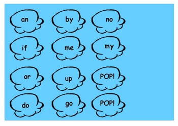 POP Sight Word Activity Popcorn High Frequency Words