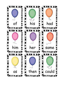 POP Sight Word Game (1st Grade)