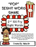 POP Sight Word Game Fry Second 100 Words