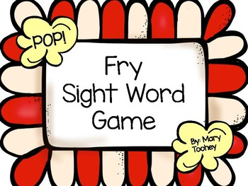 POP! Sight Word Game: Fry Words 1-100