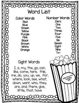 POP! Sight Words for Primary Learners