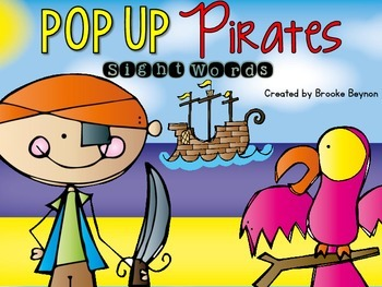 POP UP Pirates - Sight Words {FREEBIE}