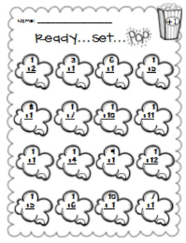 "FREEBIE:  ""POP"" Up Some Math Facts {A fun way to practice addition fluency}"