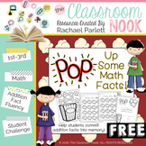 """FREEBIE:  """"POP"""" Up Some Math Facts {A fun way to practice addition fluency}"""