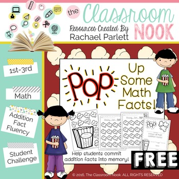 """FREEBIE:  """"POP"""" Up Some Math Facts {A fun way to practice"""