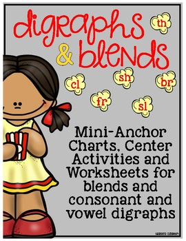 POP for Blends and Digraphs Anchor Charts and Activites